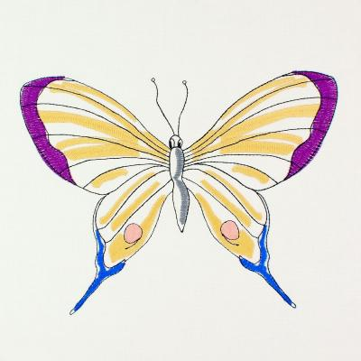 "Embroidery Design - Butterfly Sophie ""XL"""