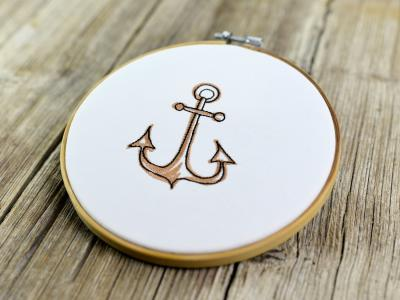 Embroidery file download embroidery motif naval anchor by FADENFRISCH