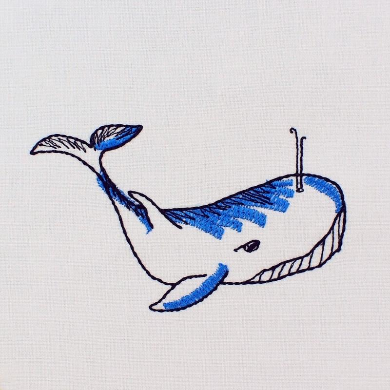 Embroidery design Whale Gimmie - Download embroidery file by FADENFRISCH