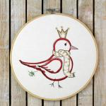 Embroidery Design - Bird Princess